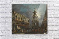 A view of the Piazzetta at Carnival, Venice  Acrylic Print