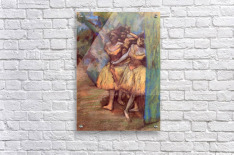 Three dancers behind the scenes by Degas  Acrylic Print