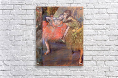 Two dancers behind the scenes by Degas  Acrylic Print