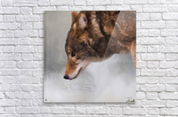 Time To Breathe - Wolf Art by Jordan Blackstone  Acrylic Print