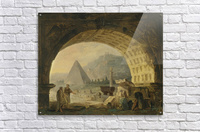 View of antiquities under an arch  Acrylic Print