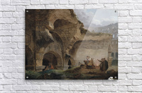 Washerwomen in the Ruins of the Colosseum  Acrylic Print