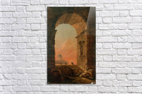 Landscape with an Arch and The Dome of Saint Peter Church in Rome  Acrylic Print