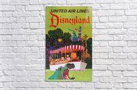 United Air Lines the official airline to Disneyland poster  Acrylic Print