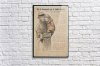 Vintage---Old-man-with-children  Acrylic Print