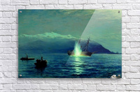 The sinking of the Turkish steamer Intibakh  Acrylic Print