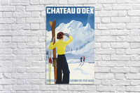 Poster for the village of Chateau dOex in the canton of Vaud in Switzerland  Acrylic Print
