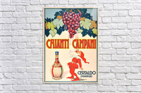 Original Vintage 1940 Advertising Poster For Chianti Campani  Acrylic Print