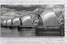 Thames Barrier, London, UK  Acrylic Print