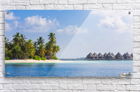 Amazing beach in Maldives, summer travel  Acrylic Print