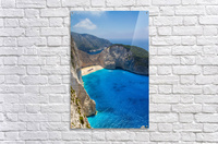 Navagio beach with shipwreck and flowers on Zakynthos island in Greece  Acrylic Print