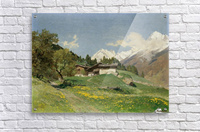 Rural house at the base of Alps  Acrylic Print