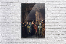 Leaving a church in the 15th Century by Alma-Tadema  Acrylic Print