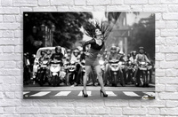 ignore it, enjoy poses on the streets Acrylic Print