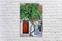 the door mykonos   Acrylic Print