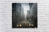 Graphic Art NYC 5th Avenue Traffic V Acrylic Print