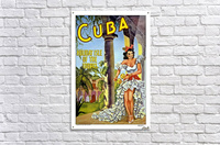 Cuba Holiday Isle of the Tropics poster  Acrylic Print