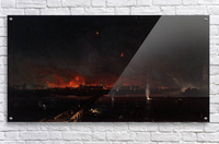 Bombardment of Marghera on the Night of May 24, 1849  Acrylic Print
