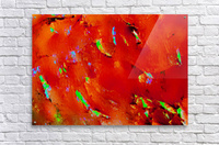 Background Abstract Leaves Seasons Orange Oranges  Acrylic Print