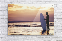 Surfer Silhouette  Acrylic Print