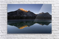 Mirror Image Of A Mountain In Water, Mount Lorette, Kananaskis, Alberta, Canada  Acrylic Print