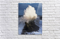 Surf erupts on the rocks at Shore Acres State Park; Charleston, Oregon, United States of America  Acrylic Print