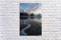 Dusk approaches on Crescent Beach; Cannon Beach, Oregon, United States of America  Acrylic Print