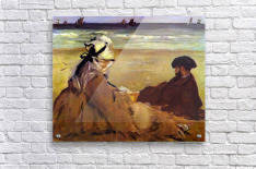 On the beach by Edouard Manet  Acrylic Print