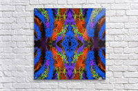 psychedelic graffiti geometric drawing abstract in blue purple orange yellow brown  Acrylic Print