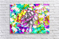 psychedelic splash painting abstract in pink blue yellow green purple  Acrylic Print