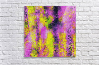vintage psychedelic painting texture abstract in pink and yellow with noise and grain  Acrylic Print