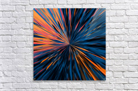 psychedelic splash painting abstract pattern in orange brown pink blue  Acrylic Print