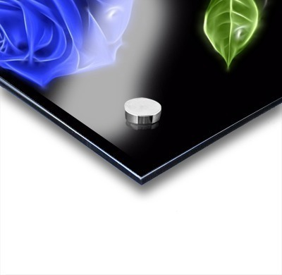 Blue Rose Glow 01_OSG - One Simple Gallery - Canvas Artwork