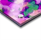 psychedelic geometric polygon pattern abstract in pink purple green Acrylic print
