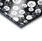 vintage skull and rose abstract pattern in black and white Acrylic print