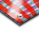 plaid pattern abstract texture in in red blue pink Acrylic print