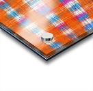plaid pattern abstract texture in orange blue pink Acrylic print