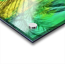 isolate palm tree with painting abstract background in green yellow Acrylic print