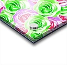 closeup rose pattern texture abstract background in pink red green Acrylic print