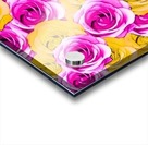 pink rose and yellow rose pattern abstract background Acrylic print