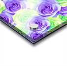 purple rose and green rose pattern abstract background Acrylic print