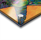 HUMMINGBIRD ON YELLOW Acrylic print