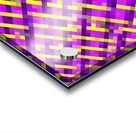 geometric pixel square pattern abstract background in pink purple yellow Acrylic print