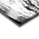 Beach Rocks Black and White II Acrylic print
