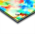psychedelic geometric pixel abstract pattern in blue green red orange Acrylic print