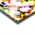 psychedelic geometric square pixel pattern abstract background in green red pink yellow Acrylic print