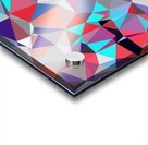 geometric triangle polygon pattern abstract background in red blue purple Acrylic print