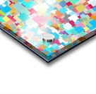 geometric square pixel pattern abstract background in blue pink orange green Acrylic print