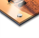 Artists concept of astronauts setting up weather monitoring equipment on Mars. Acrylic print