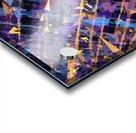 splash geometric triangle pattern abstract background in blue purple yellow Acrylic print